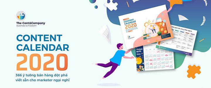 """Siêu phẩm """"Social Content Calendar 2020"""" hoàn toàn miễn phí"""